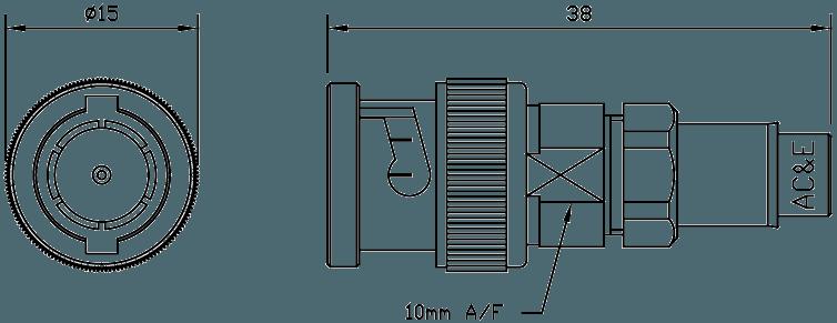 B04008060 Mini Balun Line Drawing