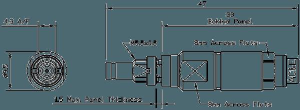 B04044070 Mini Balun Line Drawing