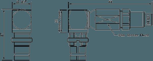 B04045060 Mini Balun Line Drawing