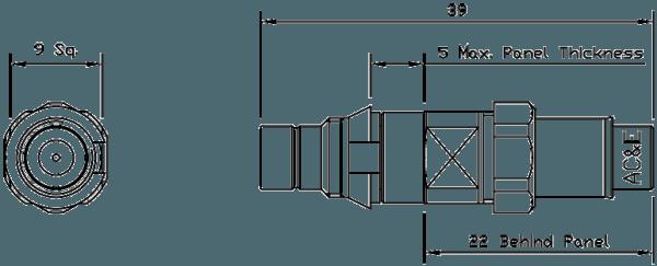 B04049060 Mini Balun Line Drawing