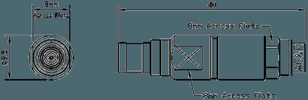 B04078070 Mini Balun Line Drawing