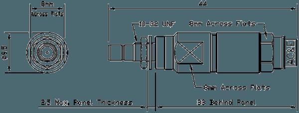 B04083070 Mini Balun Line Drawing