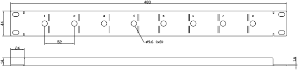 E848 Line Drawing