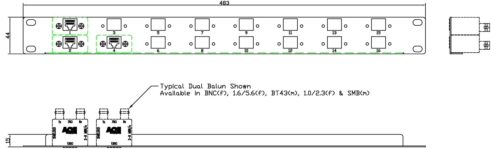 M00HRJ16 Line Drawing