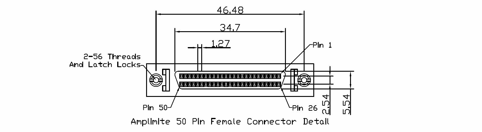 Amplimite 50 Pin Female Connector