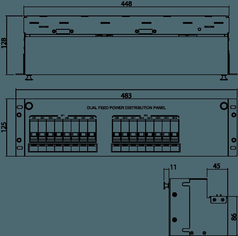 IPDU-D11 Line Drawing