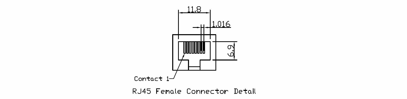 RJ45 Female Connector