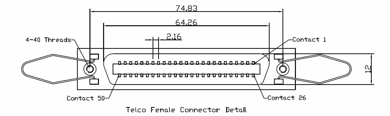 Telco Female Connector